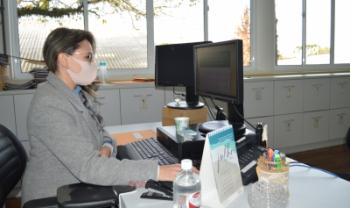 Atendimento virtual é feito pelos servidores da secretaria, mediante agendamento - Foto: Tatiane Rosa