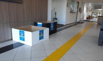 Pontos de coleta estão posicionados em centros de ensino e Reitoria da universidade. Foto:Gustavo Araújo