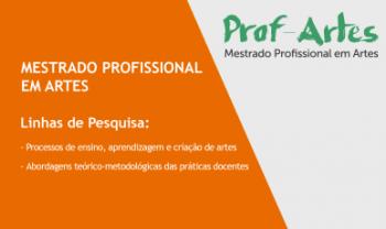 Prof-Artes tem duas linhas de pesquina, em 15instituições.